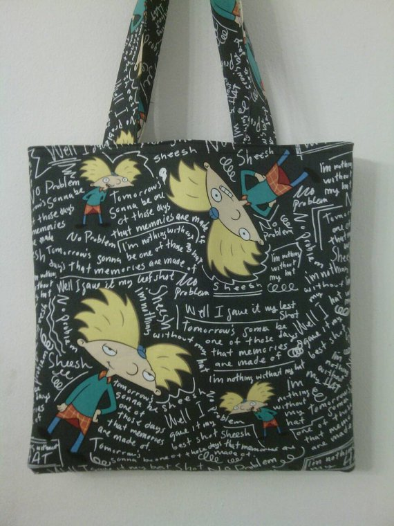 Hey Arnold! Inspired Medium Size Tote