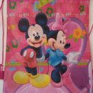 Mickey and Minnie Mouse Non-woven Drawstrings Backpack