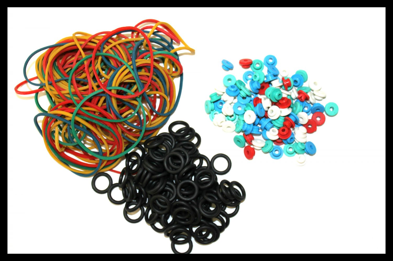 100pcs Tattoo Grommets + 100pcs Rubber Band +100pcs O Rings