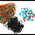 100pcs Tattoo Grommets + 100pcs Rubber Band +100pcs O Rings