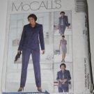 McCalls 2402 NonStop Wardrobe Pattern Misses Jacket Top Pants Skirt Sz 10 12 14