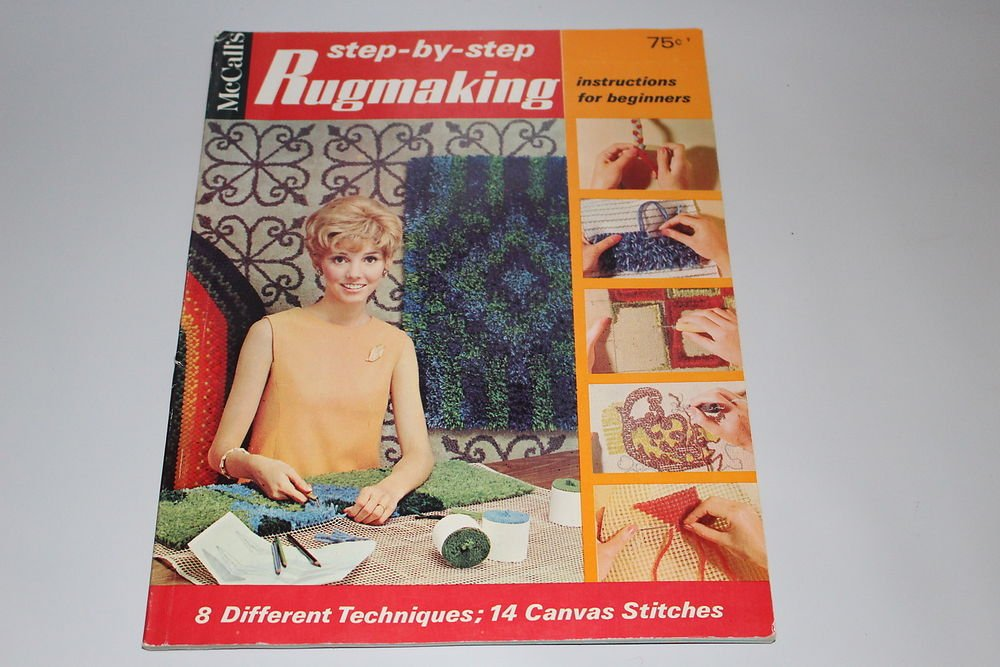Vintage McCalls Step-by-Step Rugmaking 8 Techniques 14 Stitches How-to make Rugs