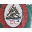 O Christmas Tree Counted Cross Stitch Kit w Hoop & Ruffle