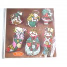 Calico Christmas Tree Ornament Kit 6 Fabric Sewing Designs