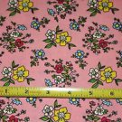 Henry Glass Pink Floral Cotton Quilting Sewing Craft Fabric~ 1 YD