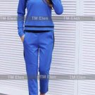 Sport suit blue with stripes