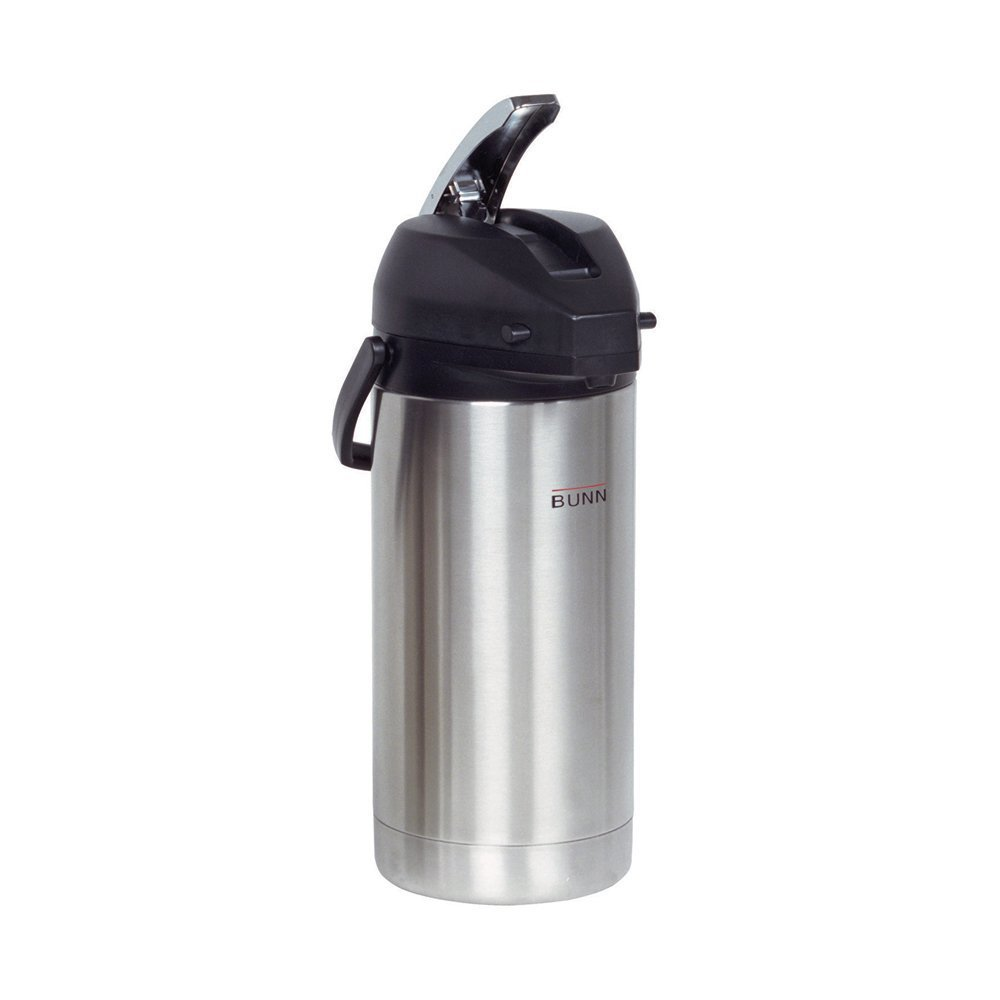 Bunn 3.8 Liter Lever-Action Airpot, Stainless Steel, Grey