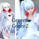 Weiss Schnee White Version Cosplay Costume, RWBY White Costume