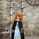 Brave Merida Costume, Merida Dress, Merida Cosplay Costume with Cape