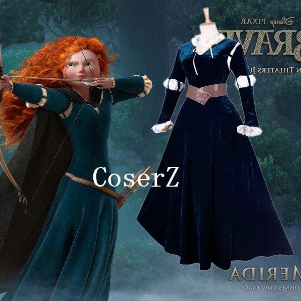 Brave film Princess Merida Costume Cosplay for Women Party Halloween Costumes