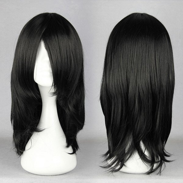 17 inches Black Wig For Anime Naruto Cosplay Figure Hyuga Neji Orochimaru synthetic Costume Wig