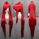 Gurren Lagann Yoko Cosplay Wig Ponytail Red long Hair Anime Wigs+ A wig cap