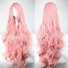 Pink Hair Fashion Anime Wig Hair Long Curly Big Wave Hair Wig Cosplay