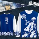 Anime Gintama Silver Soul Printed Long Sleeve T-shirt Cosplay Costume