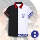 Anime Gintama Silver Soul Sakata Gintoki Short Sleeve Shirt Cosplay Costume