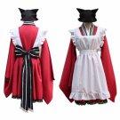 Anime Gugure Kokkuri-san Gyoku Chan Maid Dress Cosplay Costume