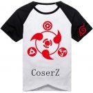 Naruto Shippuuden Uchiha Clan Sharingan Printed T-shirt Cosplay Costume