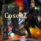 Star Wars Darth Vader Anakin Skywalker Cosplay Shoes Brown Boots Cosplay