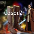 Star Wars Jedi Obi-Wan Kenobi Cosplay Shoes Boots Halloween Carnival Shoes Cosplay