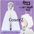 Re Life in a Different World from Zero Emilia Cloak Cosplay Costume