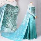 Custom Elsa Costume, Elsa Dress Halloween Costume for Adult/Girls