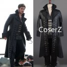 Once Upon A Time Cosplay Costume Captain Hook Costume Black Jacket for men adult