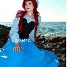 Custom Princess Ariel Blue Dress cosplay costume, The Little Mermaid Ariel Costume for adult