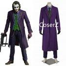 custom The Dark Knight Joker Jacket Batman Cosplay costume Carnival Cosplay fancy joker Costume