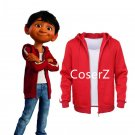 Movie Cocoes Cosplay Costume Hoodie red Coat for kid boys Halloween costume