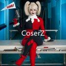 Custom Harley Quinn Cosplay Costume ,best Harley Quinn Costume for adult Halloween costume