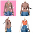 Sayori Yuri Natsuki Monika Cosplay Costume for girls popular costume with vest