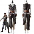 Star Wars 8 The Last Jedi Rey cosplay Costume For Adult Rey Cosplay Halloween costume