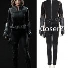 Skye Quake Agents Of S.H.I.E.L.D. Cosplay Costume black suit for women full set