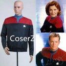 Star Trek Captain Voyager Command Cosplay Costume unisex coat