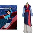 Hua Mulan blue Dress cosplay costume, Princess Mulan Costume for women
