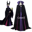 custom Sleeping Beauty Luxury Maleficent Cosplay Costume, Evil Queen Cosplay Dress with Cape
