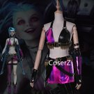 League of Legends LOL Jinx Cosplay Costume for adult girls Halloween costume