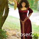 Tangled Mother Gothel Costume for women adult ,Mother Gothel Cosplay Dress with Cape