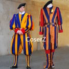 Carnival Switzerland Soldiers Cosplay Costume Swiss Guard Costume for men