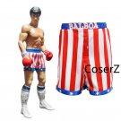 Rocky Balboa Apollo Movie Boxing American Flag Cosplay Robe and Shorts for men