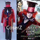 Alice in Wonderland 2 Cosplay Costume Mad Hatter costume for Adult