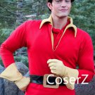 Custom made Beauty and the Beast Cosplay Costume Gaston Costume with Top,Gloves and Belt