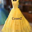 Custom 2017 Movie Beauty and the Beast Cosplay costume,Princess Belle Costume Halloween Costume