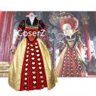Movie Alice in Wonderland Cosplay Costume,Red Queen Costume,The Queen of Hearts Costume