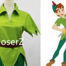Custom Peter Pan Cosplay Costume,Green Carnival Halloween Party Costume