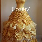 Custom Belle Yellow Dress Cosplay Costume,Deluxe Princess Belle Dress For Girls
