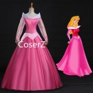 Sleeping Beauty Cosplay Costume Princess Aurora Dress Costume,Pink Aurora Dress For Women