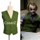 Custom Batman Joker Cosplay Costume Waistcoat Green Vest Costume