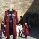 Alchemist Edward Elric Cosplay Costume Leather Trench Coat Fullmetal For Men