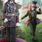 Alice In Wonderland Cosplay Costume Johnny Depp Mad Hatter Costume Unisex